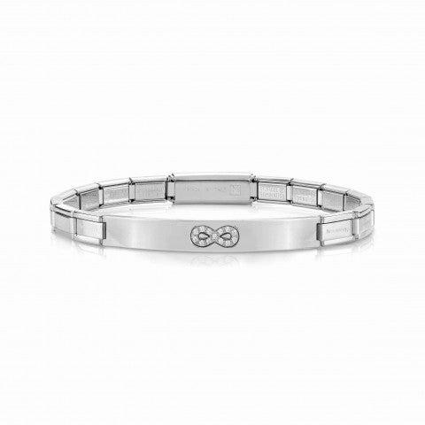 Bracelet_Trendsetter_Infini_avec_Cubic_Zirconia_Bracelet_avec_plaque_et_symbole_en_Acier