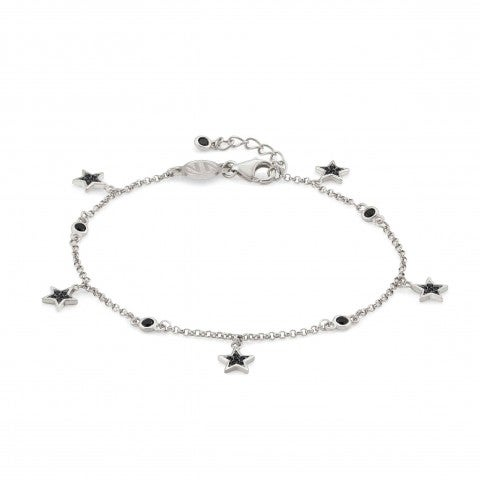 SweetRock_Stars_and_Gemstone_Bracelet_Bracelet_in_silver_with_pendants_and_Cubic_Zirconia