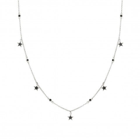 SweetRock_Stars_and_Gemstone_Necklace_Necklace_in_silver_with_pendants