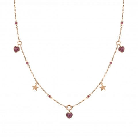 Nightdream_Necklace_with_Hearts_and_Stars_Necklace_with_treated_finishing
