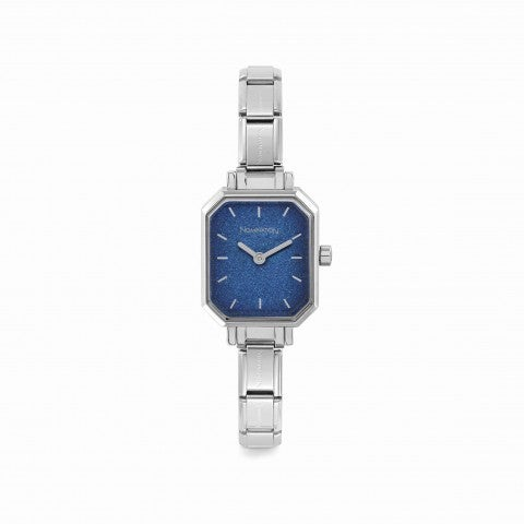 Composable_Watch_with_Blue_Glitter_Dial_Personalisable_watch_in_stainless_steel_with_coloured_dial