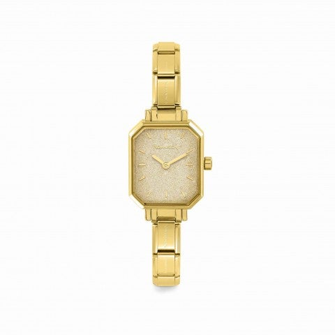 Composable_Watch_with_Gold_Glitter_Dial_Personalisable_watch_in_gold_with_coloured_dial