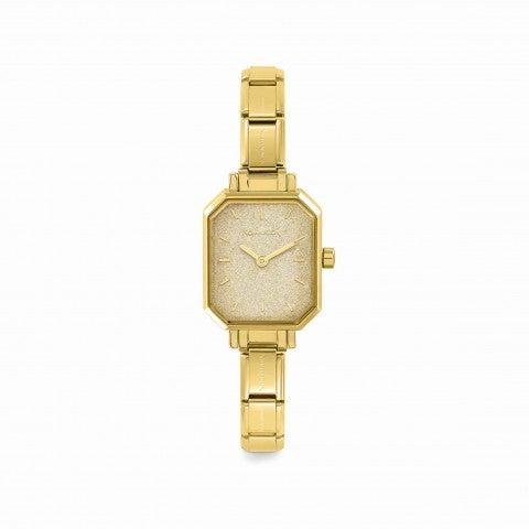 Reloj_Composable_con_esfera_glitter_oro_Reloj_personalizable_con_correa_Composable_Classic
