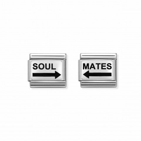 2_Link_Pair_Composable_Classic_SOUL_MATES_2_Link_Pair_with_writing_#oneformeoneforyou