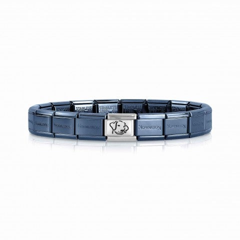 Composable_Classic_Blue_Bracelet_Dog_Bracelet_in_stainless_steel_with_symbol