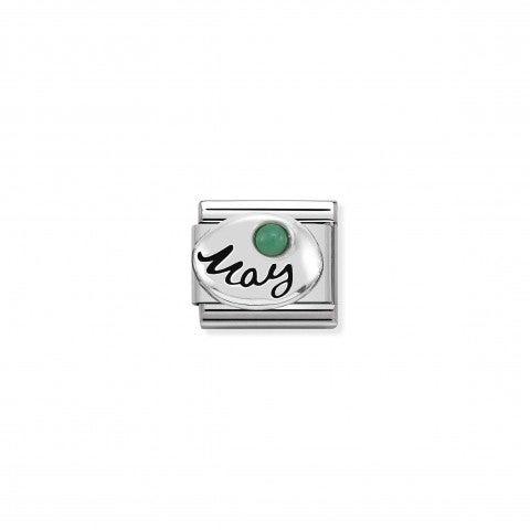 Link_Composable_Classic_in_Argento_Maggio_Link_con_pietra_Smeraldo
