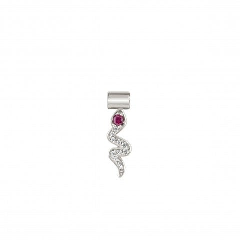 SeiMia_Snake_Charm_Silver_charm_with_coloured_Cubic_Zirconia