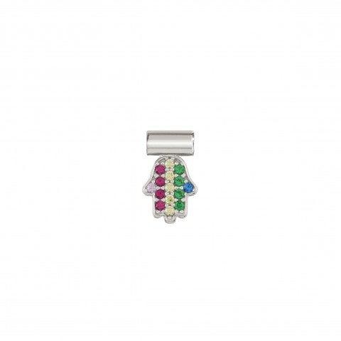 SeiMia_Rainbow_Hand_Charm_Silver_Hand-shaped_charm