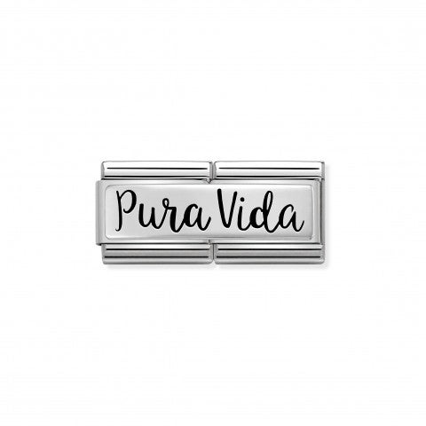 Double_Composable_Classic_Link_Pura_Vida_Link_with_writing_in_Spanish