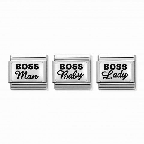 3_Composable_Classic_Boss_Family_Links_Link_in_silver_with_writing_#oneformeoneforyou