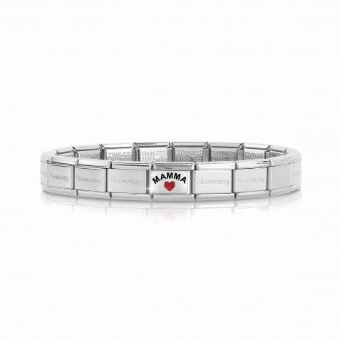 Composable_Classic_Mamma_with_Heart_Bracelet_Bracelet_with_stainless_steel_base_and_decorative_Link