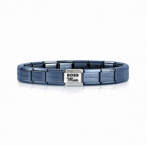 Bracciale_Composable_Classic_Boss_Man_Bracciale_con_Base_Blu