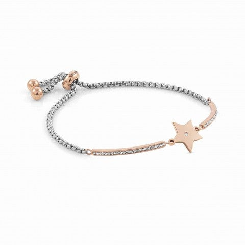Milleluci_Bracelet_with_Star_and_Crystals_Bracelet_in_stainless_steel_with_Cubic_Zirconia