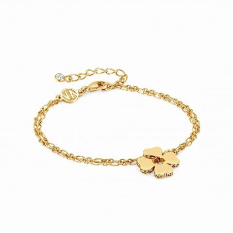 Essentials_Gold_Four-Leaf_Clover_Bracelet_Bracelet_with_pendant_and_Zirconia