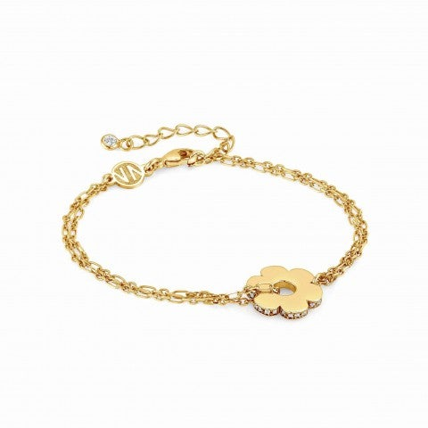 Essentials_Gold_Flower_Bracelet_Bracelet_with_pendant_and_Zirconia