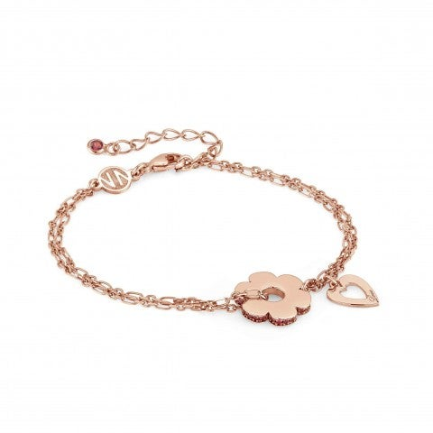 Essentials_Flower_and_Heart_Bracelet_Bracelet_with_plated_finish