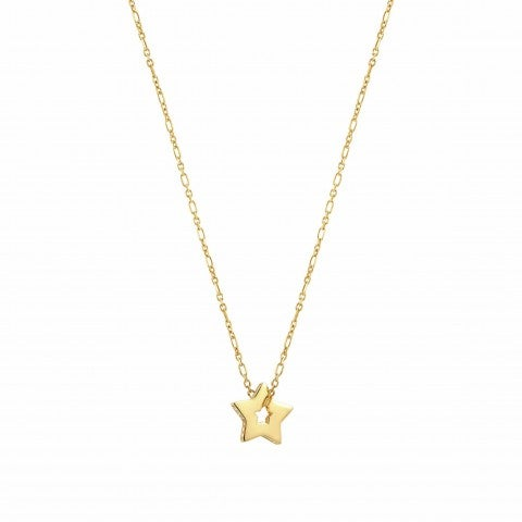 Essentials_Gold_Star_Necklace_Necklace_with_white_Zirconia