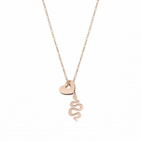 Essentials_Heart_and_Snake_Necklace_Necklace_with_Zirconia