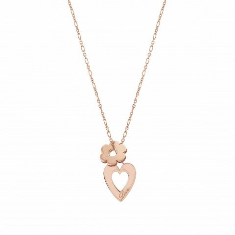 "Essentials_Heart_and_Flower_Necklace_Necklace_with_""Love""_written"