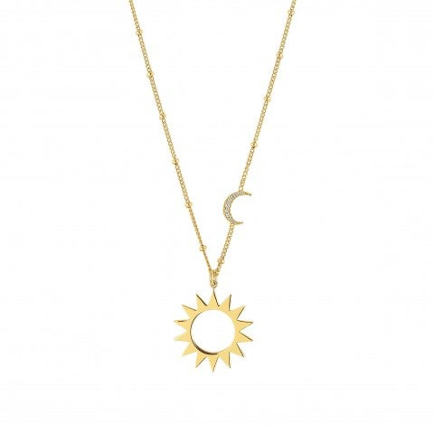 Antibes_Necklace_with_Moon_and_Sun_Necklace_in_sterling_silver_with_pendants