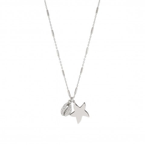 Antibes_Necklace_with_Star_and_Shell_Necklace_in_sterling_silver_with_pendants