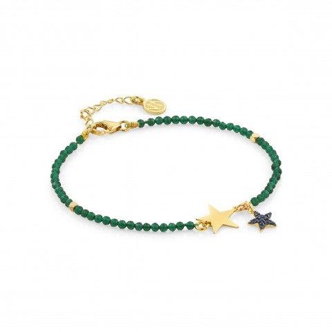 Armband_Antibes_mit_grünen_Kristallen_Armband_in_Silber_Sterne