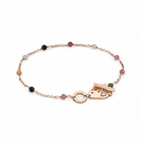 Mon_Amour_Strawberry_and_Gemstones_Bracelet_Bracelet_with_rose_gold_plated_finish