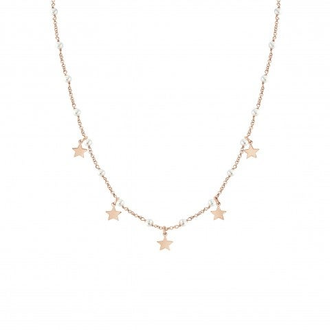 Mon_Amour_Star_and_White_Gemstones_Necklace_Necklace_with_rose_gold_plated_finish