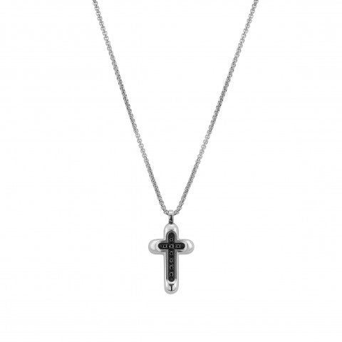 Gentleman_Cross_Necklace_in_Stainless_Steel_Necklace_with_pendant_in_black_PVD