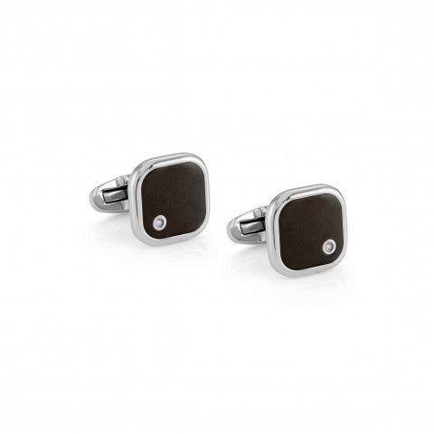 Gentleman_Cuff_Links_with_Diamond_Accessory_in_hypoallergenic_stainless_steel