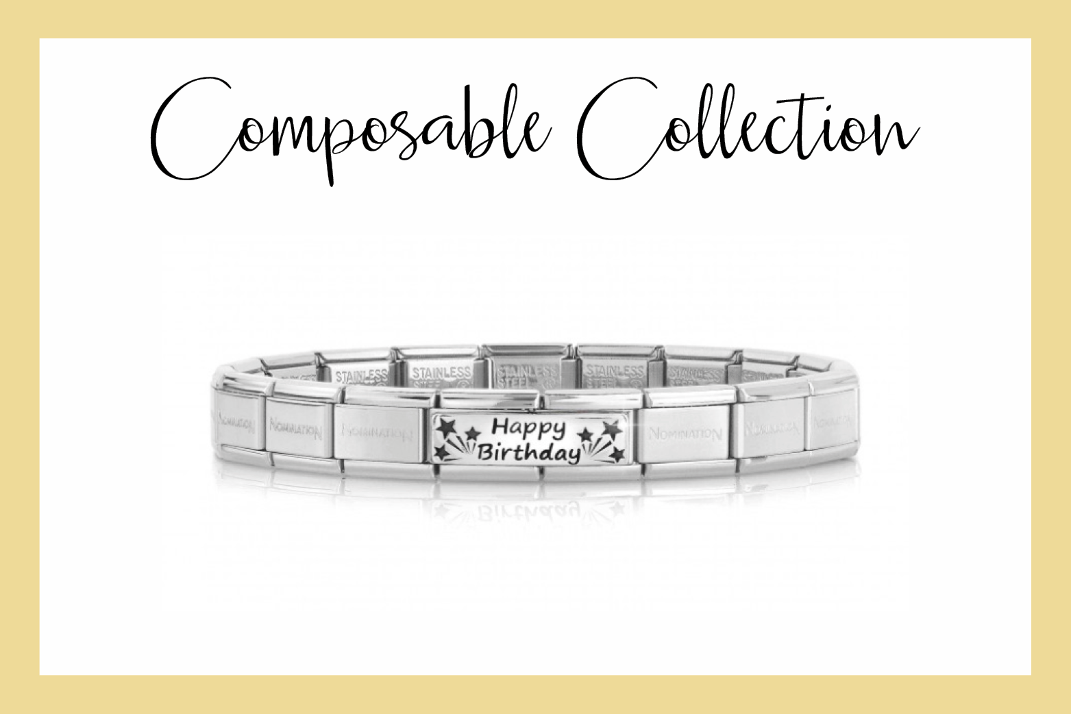 Bracelet Composable Classic Happy Birthday