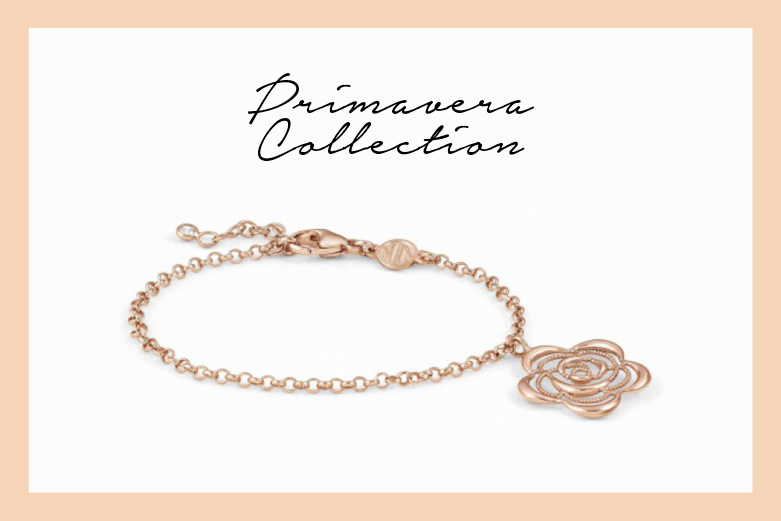 Primavera Bracelet in rose gold with flower
