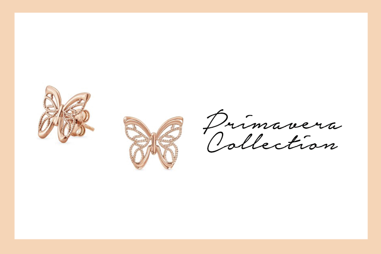Primavera Earrings with butterfly