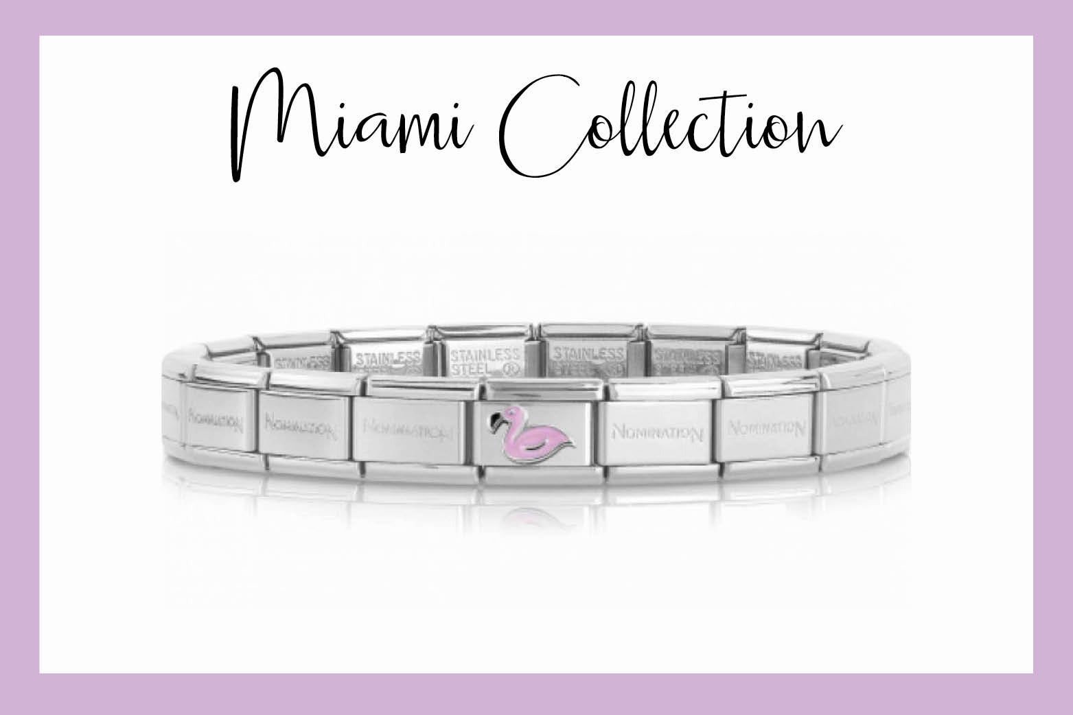 Classic Composable Bracelet with Pink Flamingo