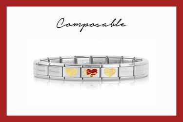 Composable Classic Bracelet Hearts and puzzle