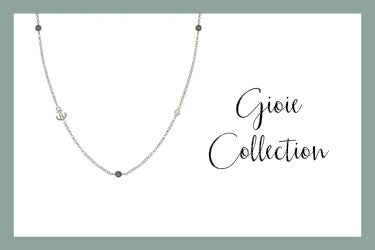Gioie Necklace with anchor grey jade