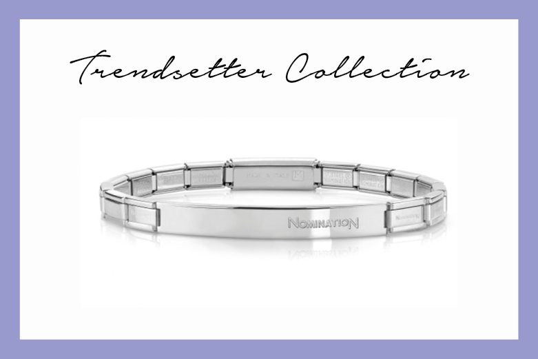 Trendsetter Stainless Steel bracelet with plaque