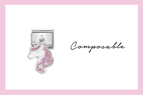 Composable Classic Link Glitter Unicorn