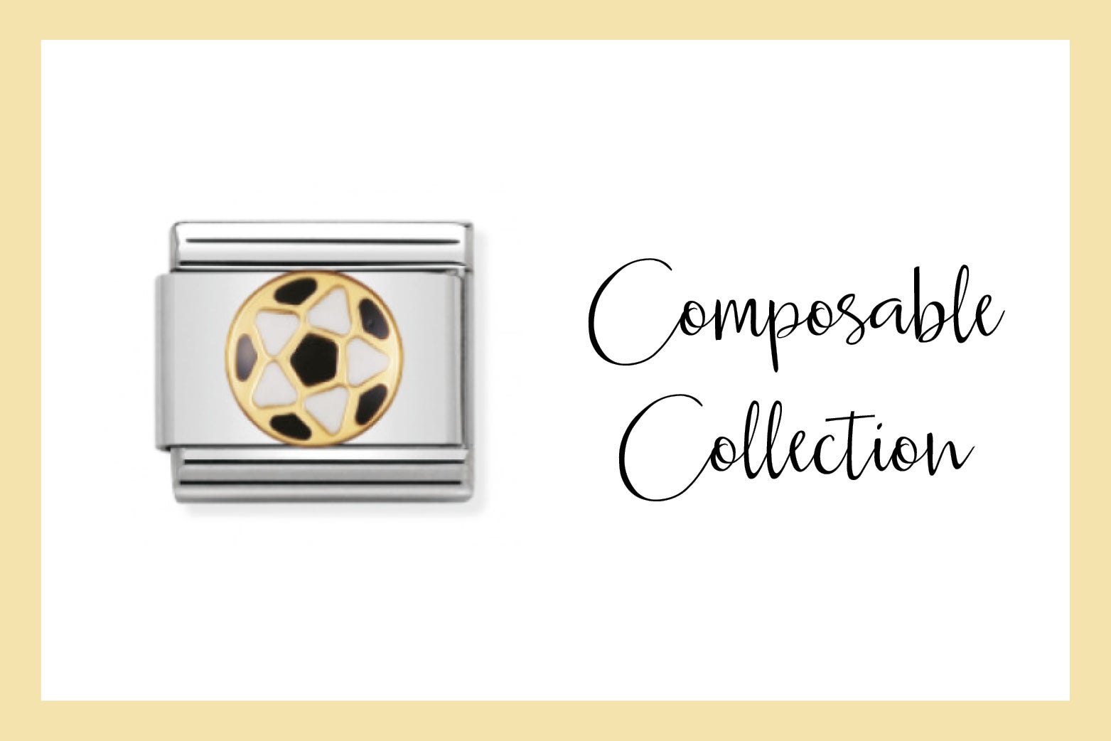 Composable Classic Link Black and White Football