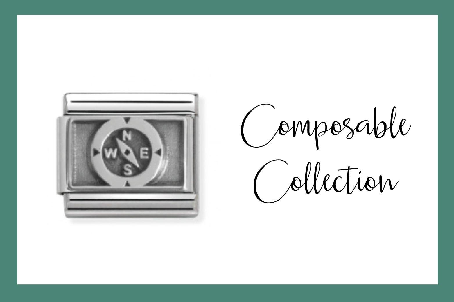 Composable Classic Link mit Symbol Kompass