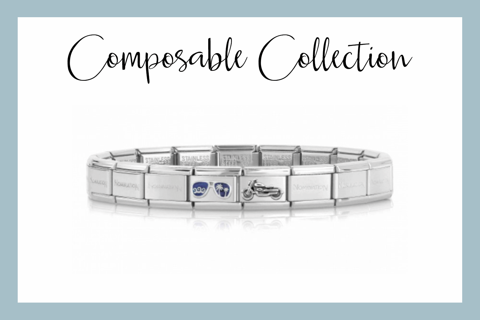 Composable Bracelet with Motorcycle