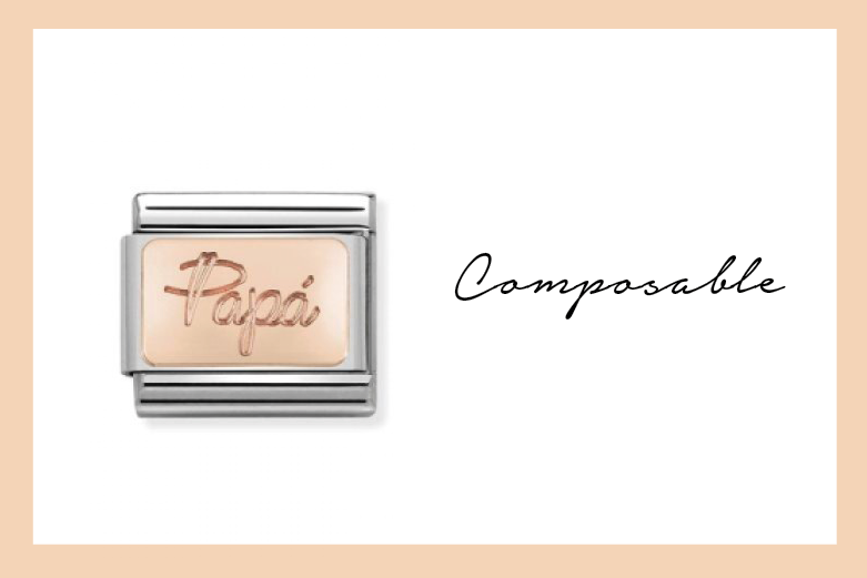Composable Papà Link in rose gold