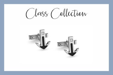 class stainless steel cufflinks with anchor