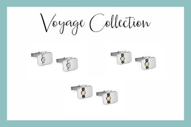 Voyage cufflinks with four-leaf clovers