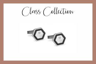 Stainless steel hexagon cufflinks