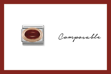 Composable Classic Link Granat in Rosagold