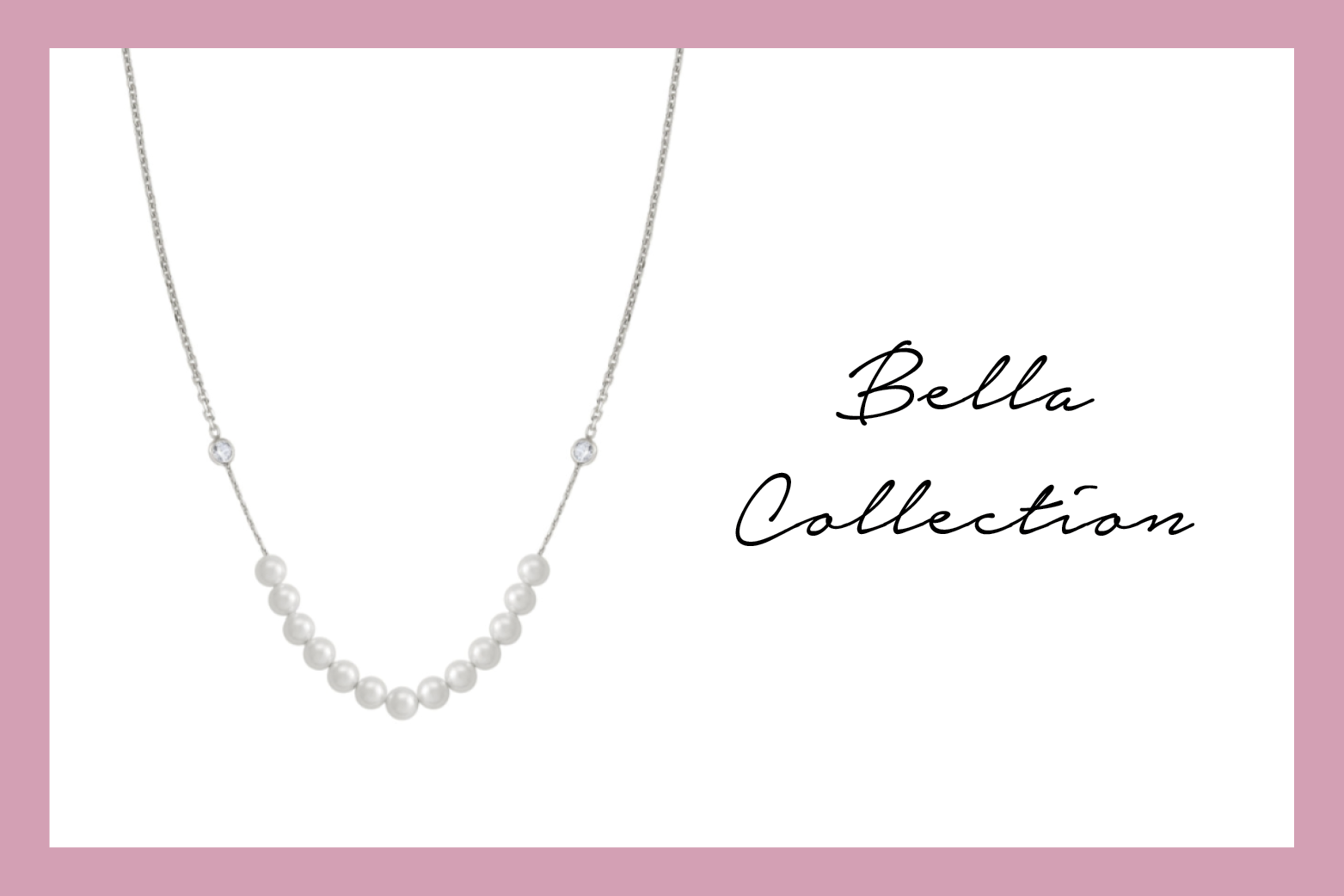 Bella Moonlight Necklace with pearls