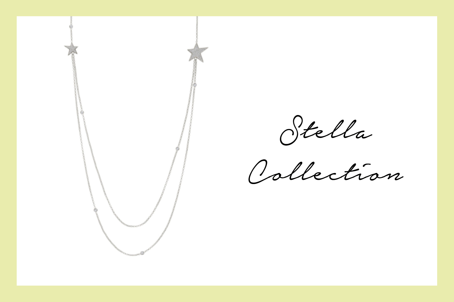 Long Necklace with stars and Cubic Zirconia
