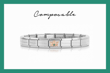Composable Classic Armband Engel gold und stein