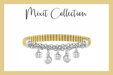 Mixit stretch bracelet with good luck charms